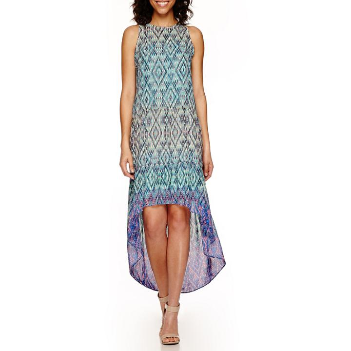 A.n.a Sleeveless Print Tiered Maxi Dress