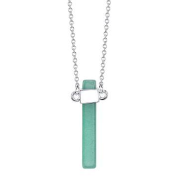Bridge Jewelry Womens Green Aventurine Silver Over Brass Pendant Necklace