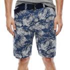Arizona Belted Flat-front Shorts