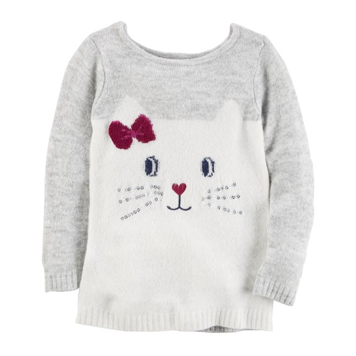 Carter's Round Neck Long Sleeve Pullover Sweater - Preschool
