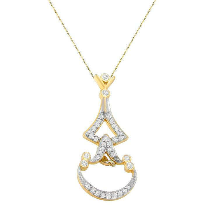 Womens 1/3 Ct. T.w. White Diamond Pendant Necklace