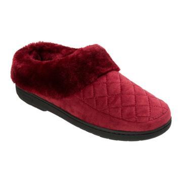 Dearfoams Velour Furry Clog Slippers