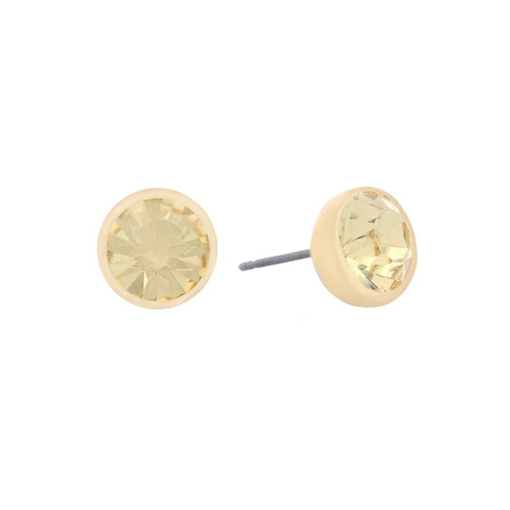 Monet Jewelry Yellow Stud Earrings