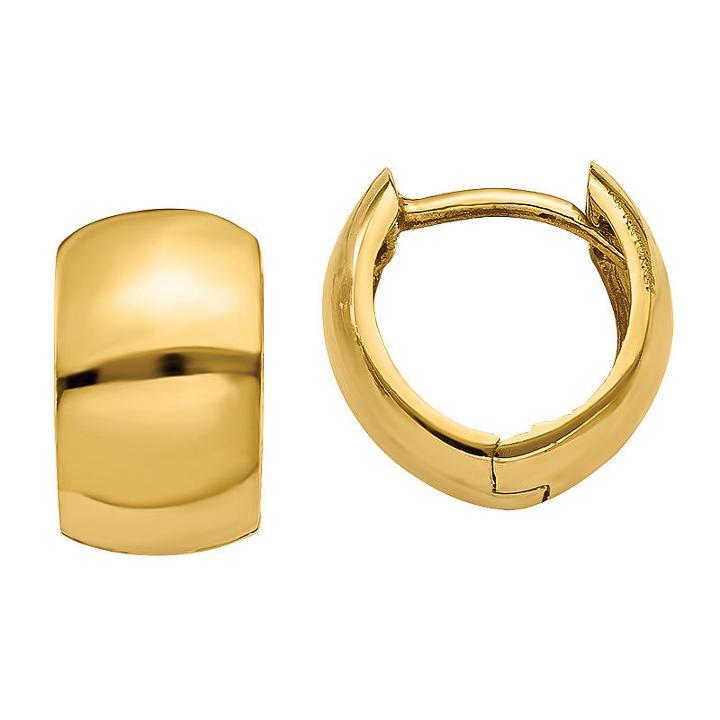 14k Gold 7mm Hoop Earrings