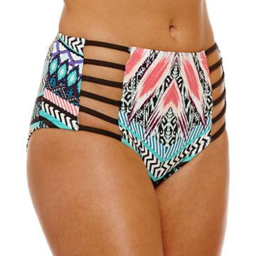 Ambrielle Chevron High Waist Swimsuit Bottom
