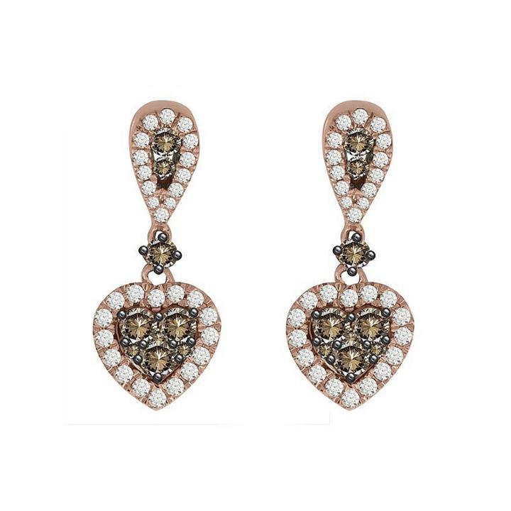 7/8 Ct. T.w. White Diamond 10k Gold Drop Earrings