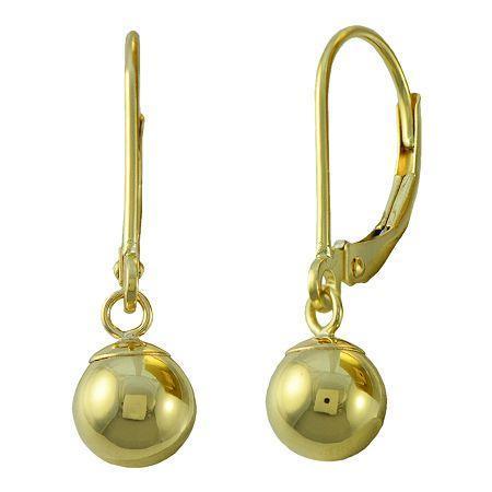 Bead Drop Earrings 14k Gold