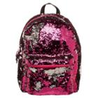 Pink & Rose Gold Reverse Sequins Backpack