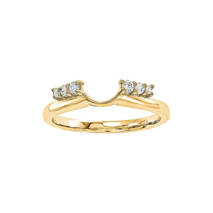 1/7 Ct. T.w. Diamond 14k Yellow Gold Ring Wrap