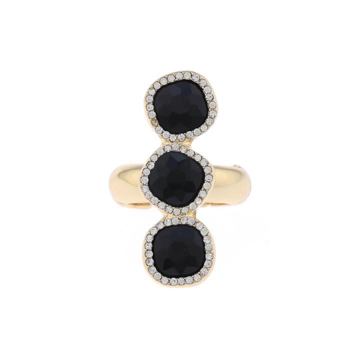 Monet Jewelry Womens Black Jewelry Set