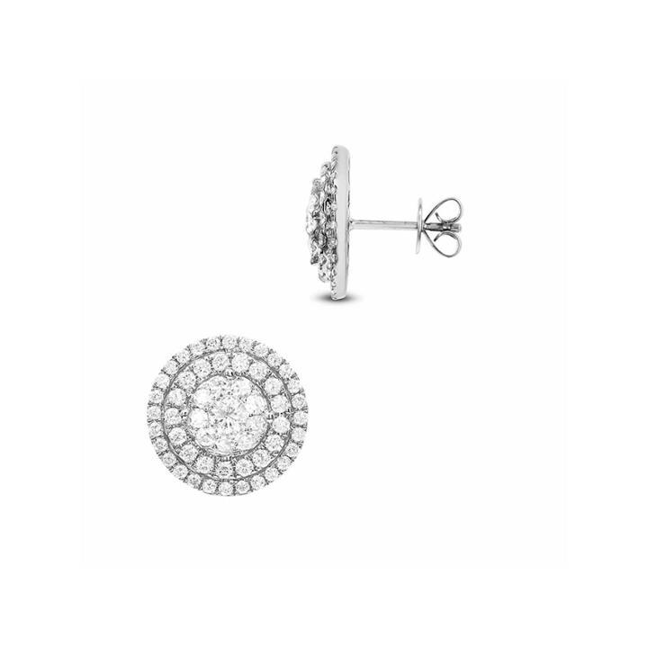2 Ct. T.w. White Diamond 14k Gold Drop Earrings
