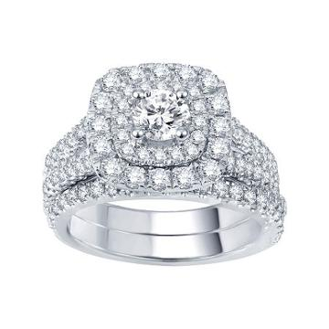 Modern Bride Signature 2 Ct. T.w. Certified Diamond Bridal Set