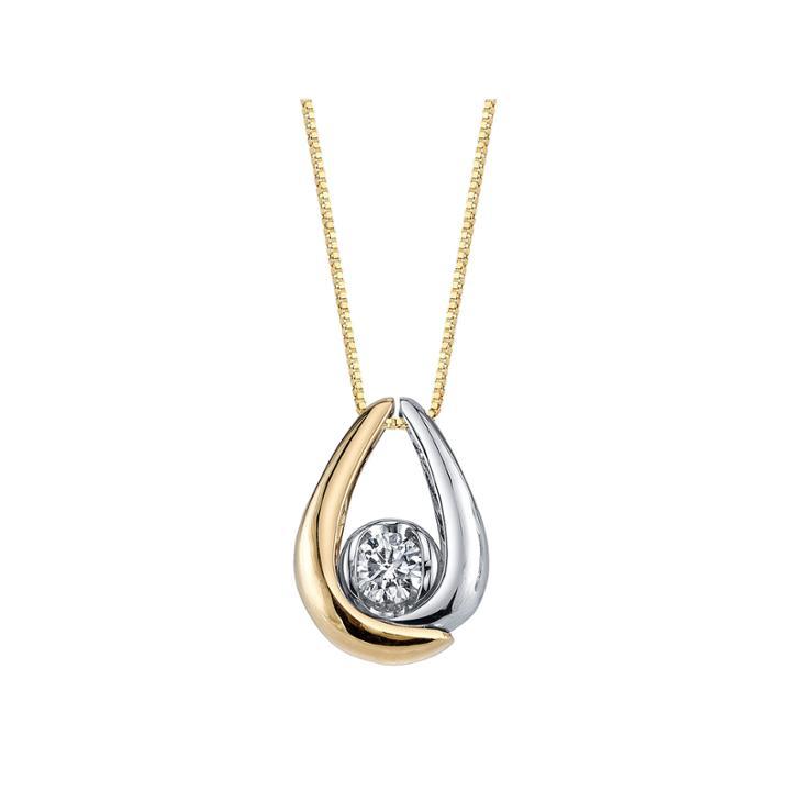 1/8 Ct. T.w. White Diamond Round 10k Gold Pendant