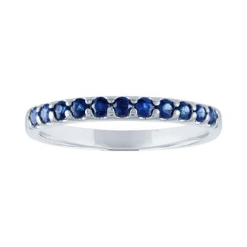 Modern Bride Gemstone Womens Genuine Sapphire Blue Engagement Ring