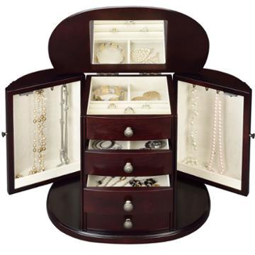Monet Jewelry Chestnut Jewelry Box