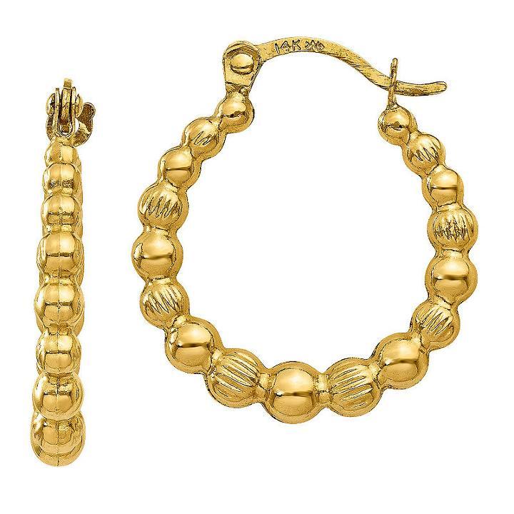 14k Gold 18mm Hoop Earrings