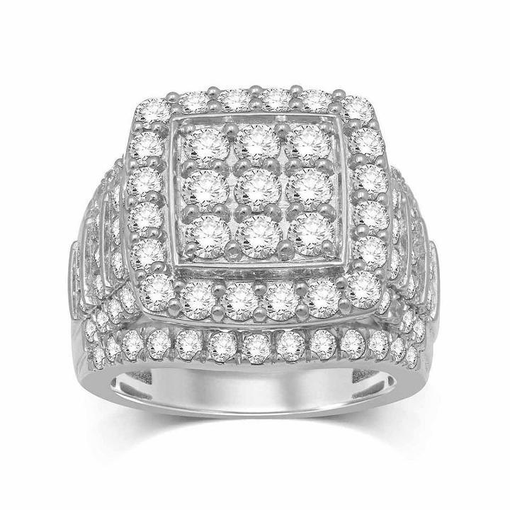 Modern Bride Signature Womens Genuine Diamond Round Engagement Ring