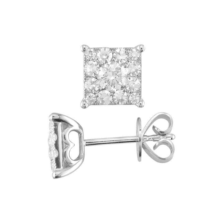 3/4 Ct. T.w. Diamond 14k White Gold Stud Earrings
