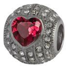 Forever Moments Pav Heart Charm Bracelet Bead
