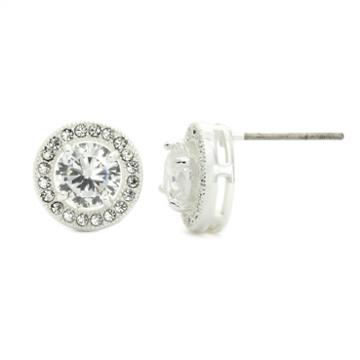 City X City White Crystal Stud Earrings