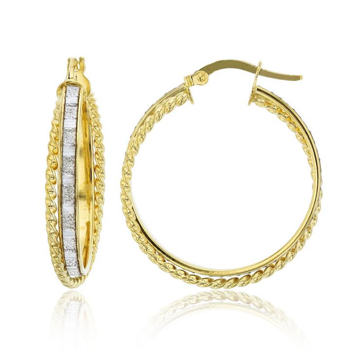 14k Gold 27.5mm Hoop Earrings