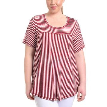Ny Collection High Low Swing Top - Plus