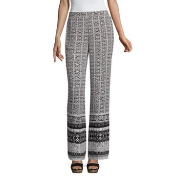 By & By Bordered Palazzo Pants-juniors