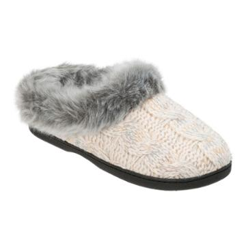 Dearfoams Cable Knit Clog Slippers