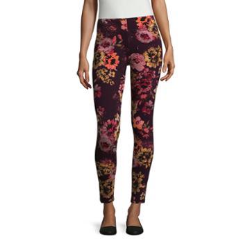 Mixit Burgundy Floral Legging-petite Leggings