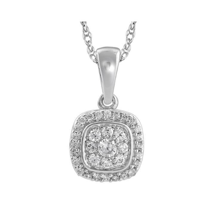 1/4 Ct. T.w. Diamond 14k White Gold Pendant