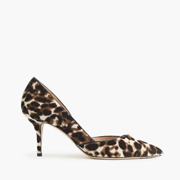 J.Crew Collection Colette calf hair d'Orsay kitten heels