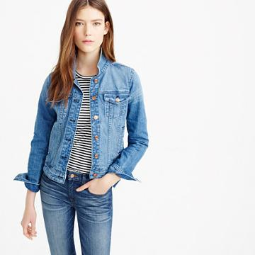 J.Crew Premium stretch denim jacket