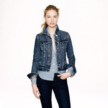J.Crew Vintage denim jacket in recycled indigo wash