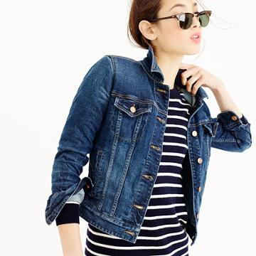 J.Crew Stretch denim jacket in Sharon wash