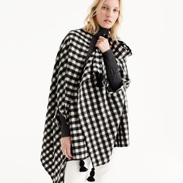 J.Crew Checkered cape-scarf
