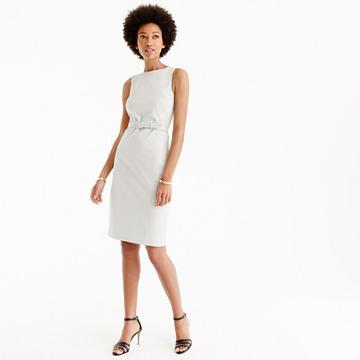 J.Crew Petite resumé dress in bistretch-cotton