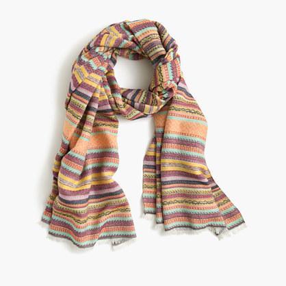 J.Crew Patterned stripe scarf