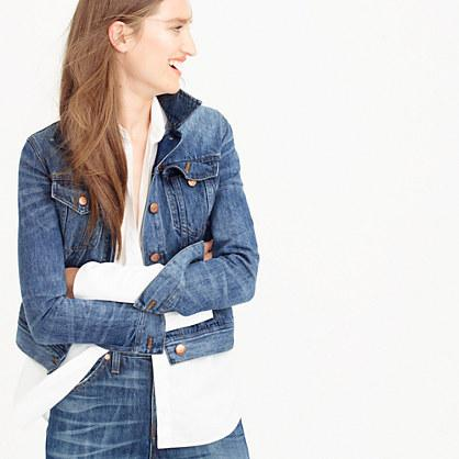 J.Crew Petite classic denim jacket