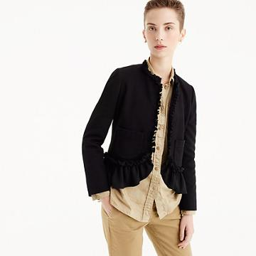 J.Crew The going-out blazer with ruffles