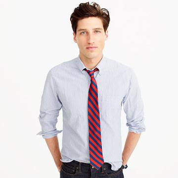 J.Crew Slim American Pima cotton oxford shirt in stripe