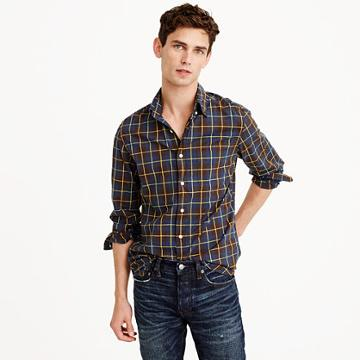 J.Crew Heather poplin shirt in rustic plaid