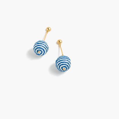 J.Crew Striped bead drop earrings
