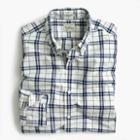 J.Crew Secret Wash shirt in indigo check