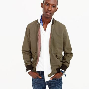 J.Crew Tall Wallace & Barnes garment-dyed cotton MA-1 bomber jacket