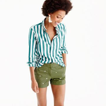J.Crew Embroidered 4 chino short