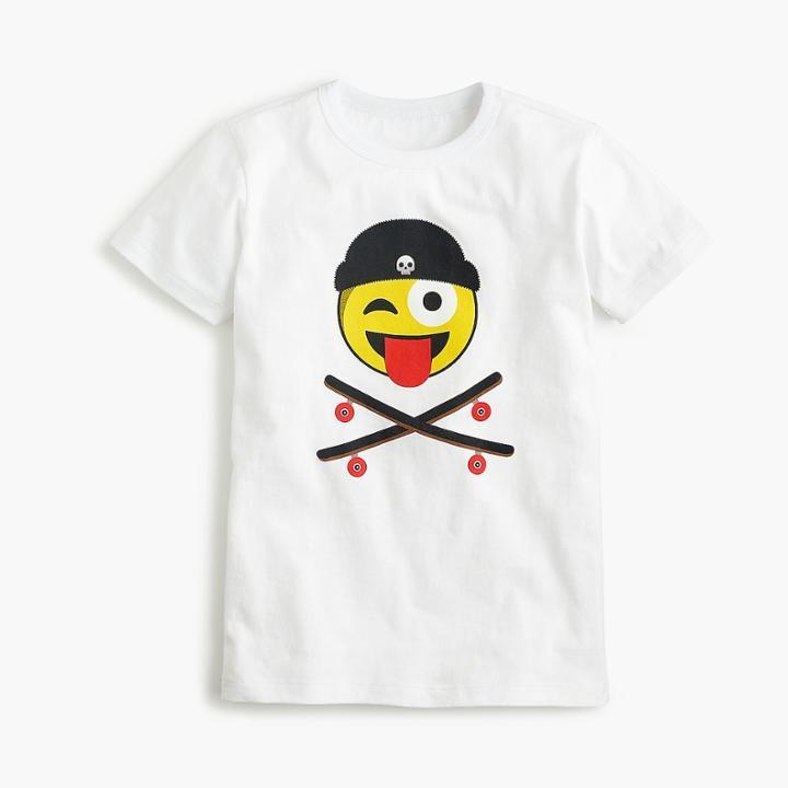 J.Crew Boys' skateboard emoji T-shirt