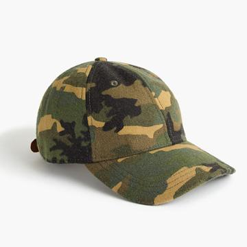 J.Crew Wallace & Barnes wool ball cap in camo