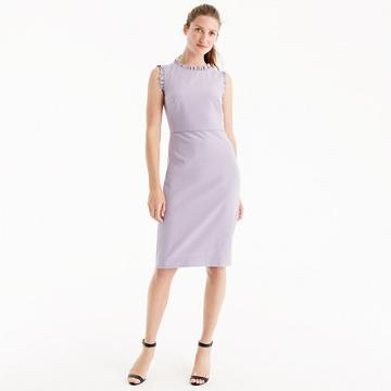 J.Crew Petite ruffle-trim dress