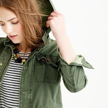 J.Crew Petite summerweight hooded utility jacket