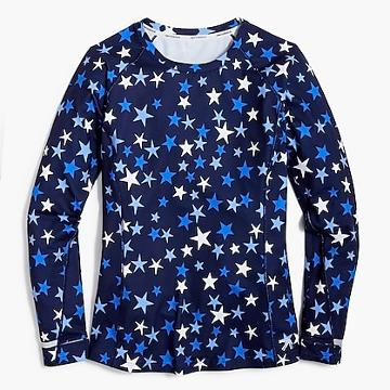 J.Crew New Balance® for J.Crew in-transit long-sleeve T-shirt in stars